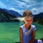 Portraitmalerei, 70 x 100 cm, Öl auf Leinwand